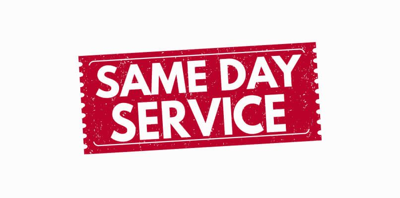 Same day service guarantee image